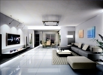 living room828 3d model 3ds max 95778