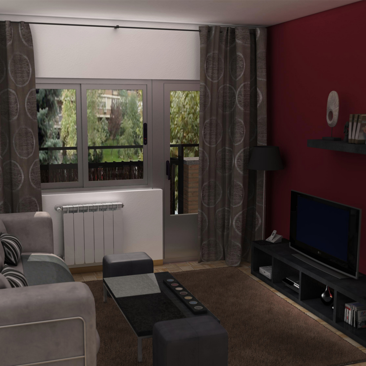 Living room 3d model interior light 3ds max fbx c4d ma mb for Living room 3d model