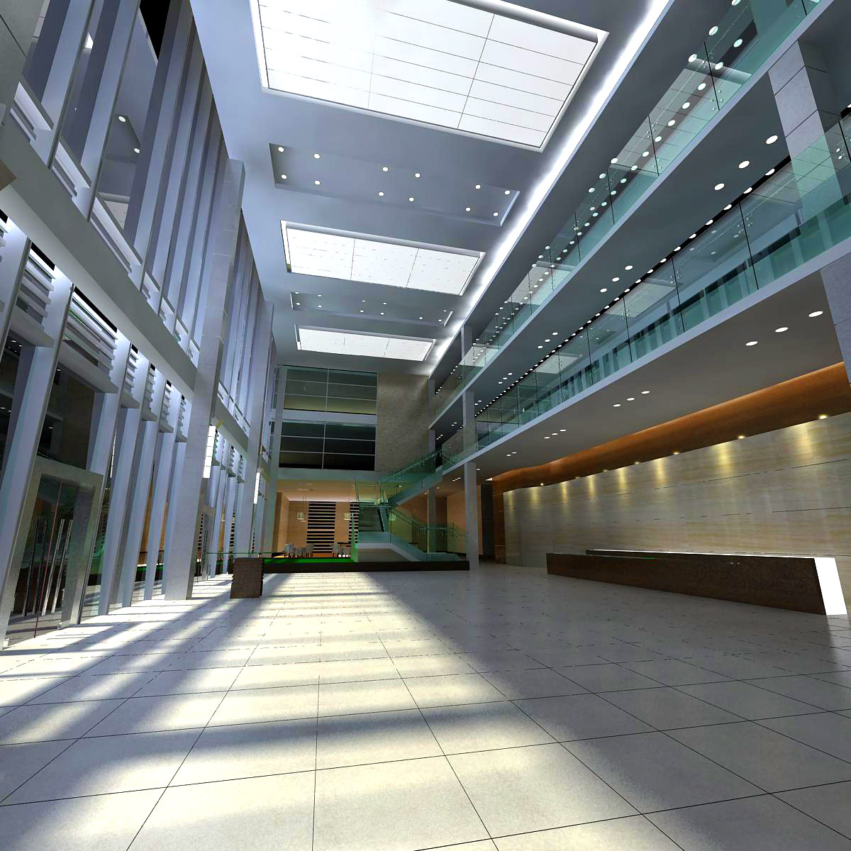 lobby 002 two 3d model max 141007