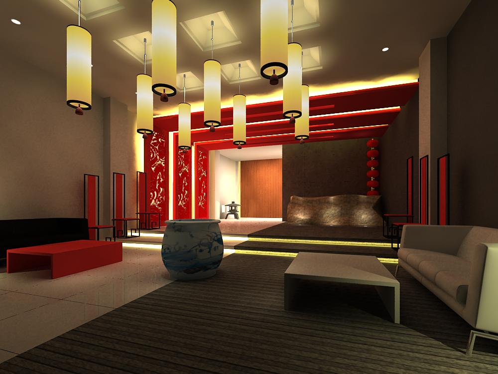 lobby 005 two 3d model max 141014