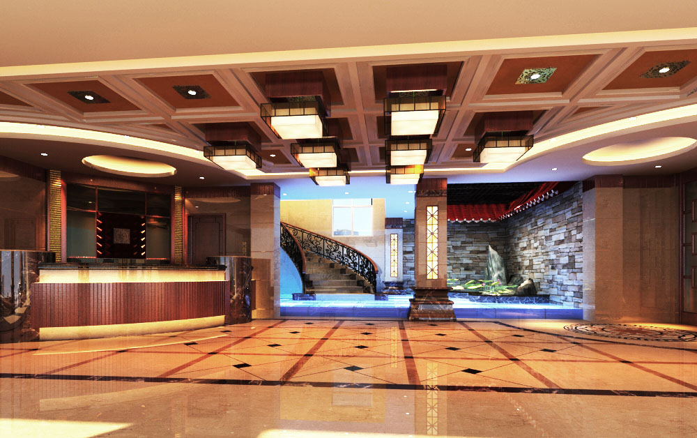 lobby 006 two 3d model max 124868