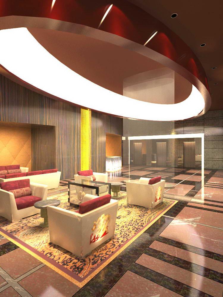 lobby 007 3d model max 136744