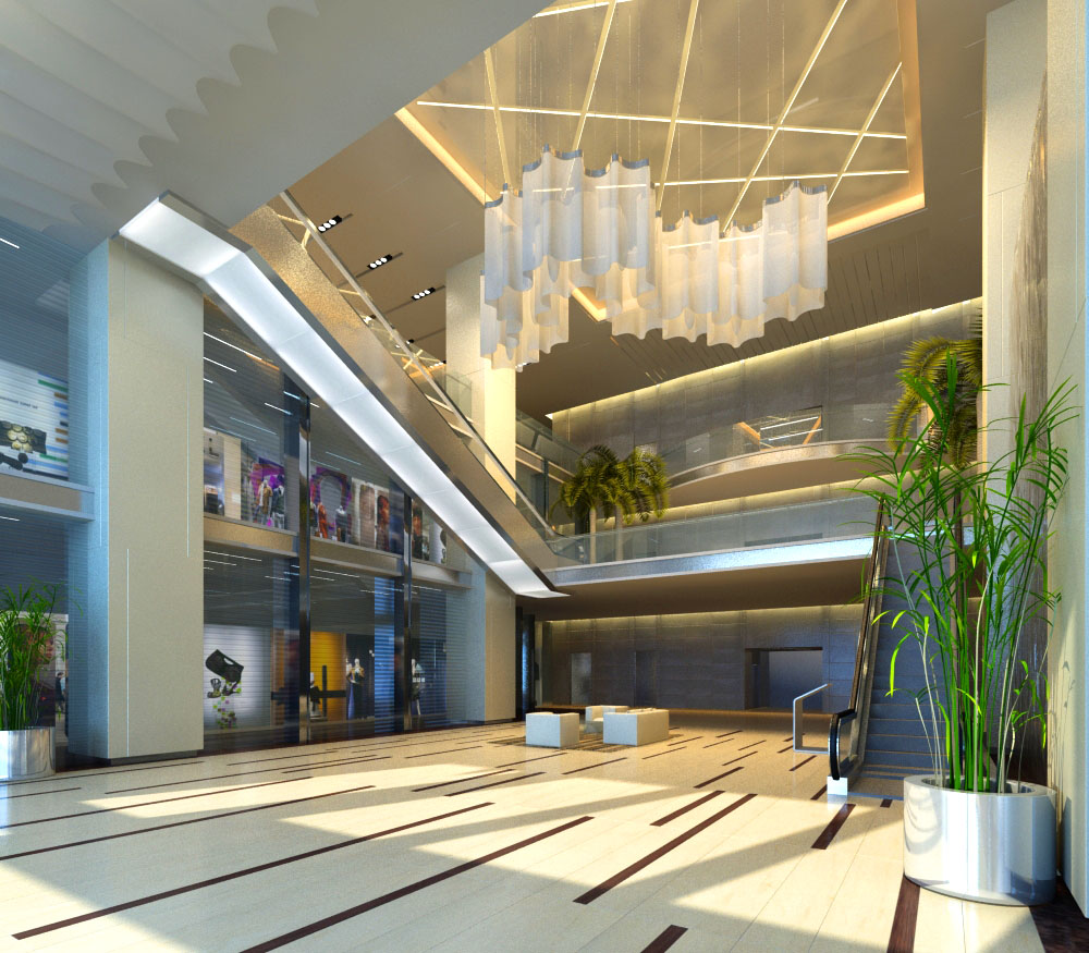 lobby 008 two 3d model max 124870