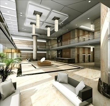 lobby 012 3d model 3ds max 90066