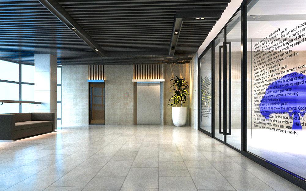 lobby 013 3d model max 136750