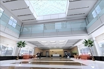 lobby 017 3d model 3ds max 90090