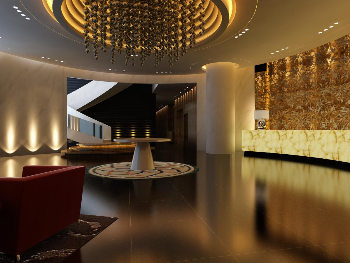 lobby 024 two 3d model max 136775