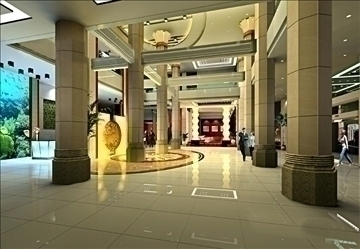 lobby 026 3d model 3ds max 90108