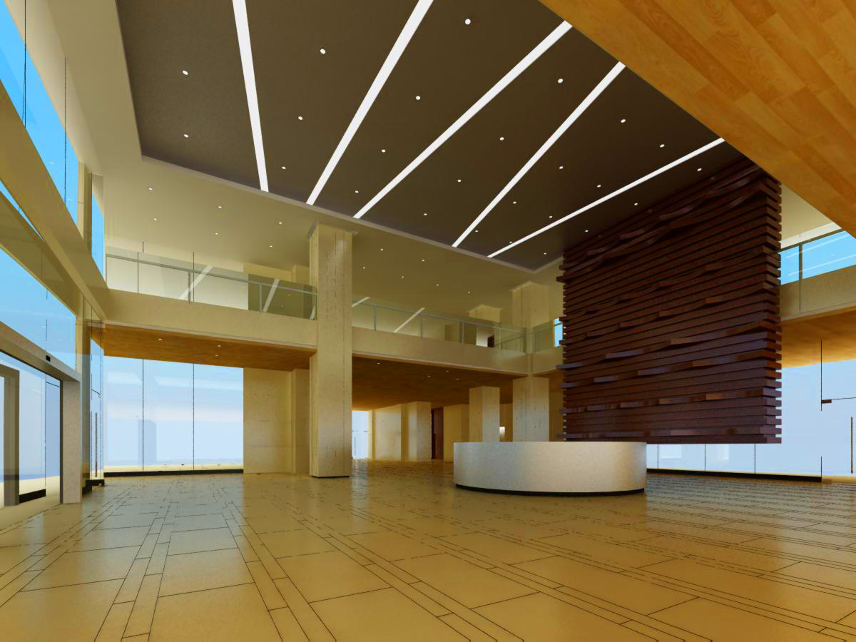 lobby 030 two 3d model max 136787