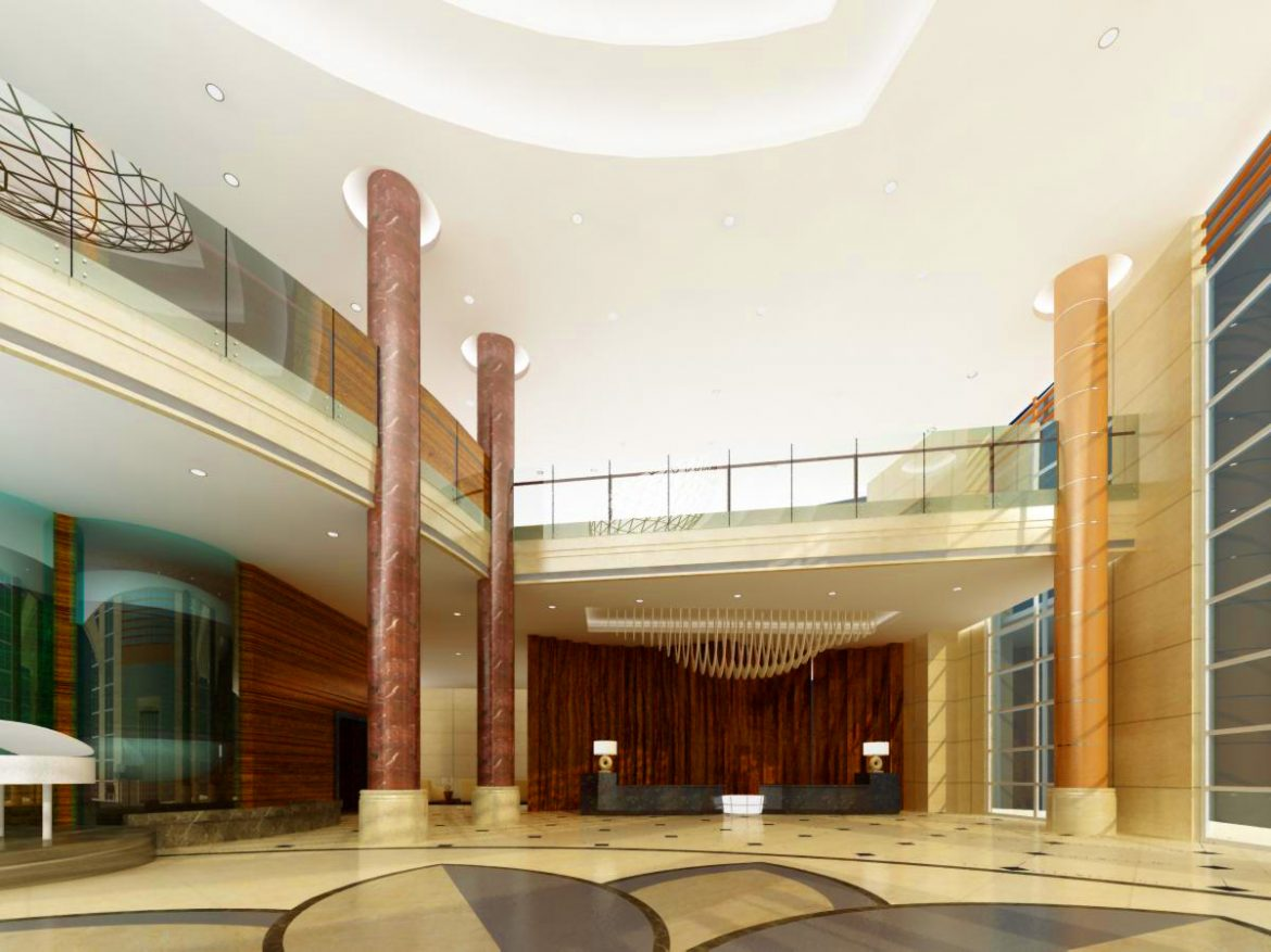 lobby 033 two 3d model max 136793