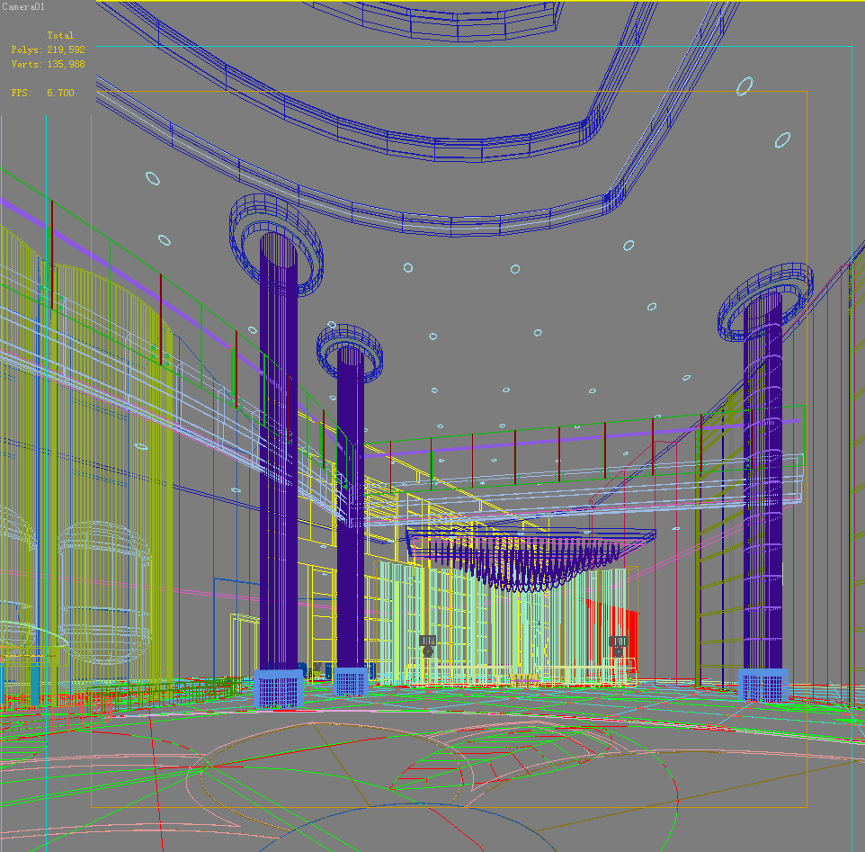 lobby 033 two 3d model max 136794