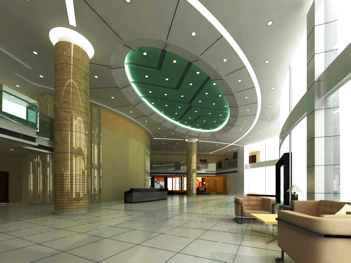 lobby 034 two 3d model max 136795
