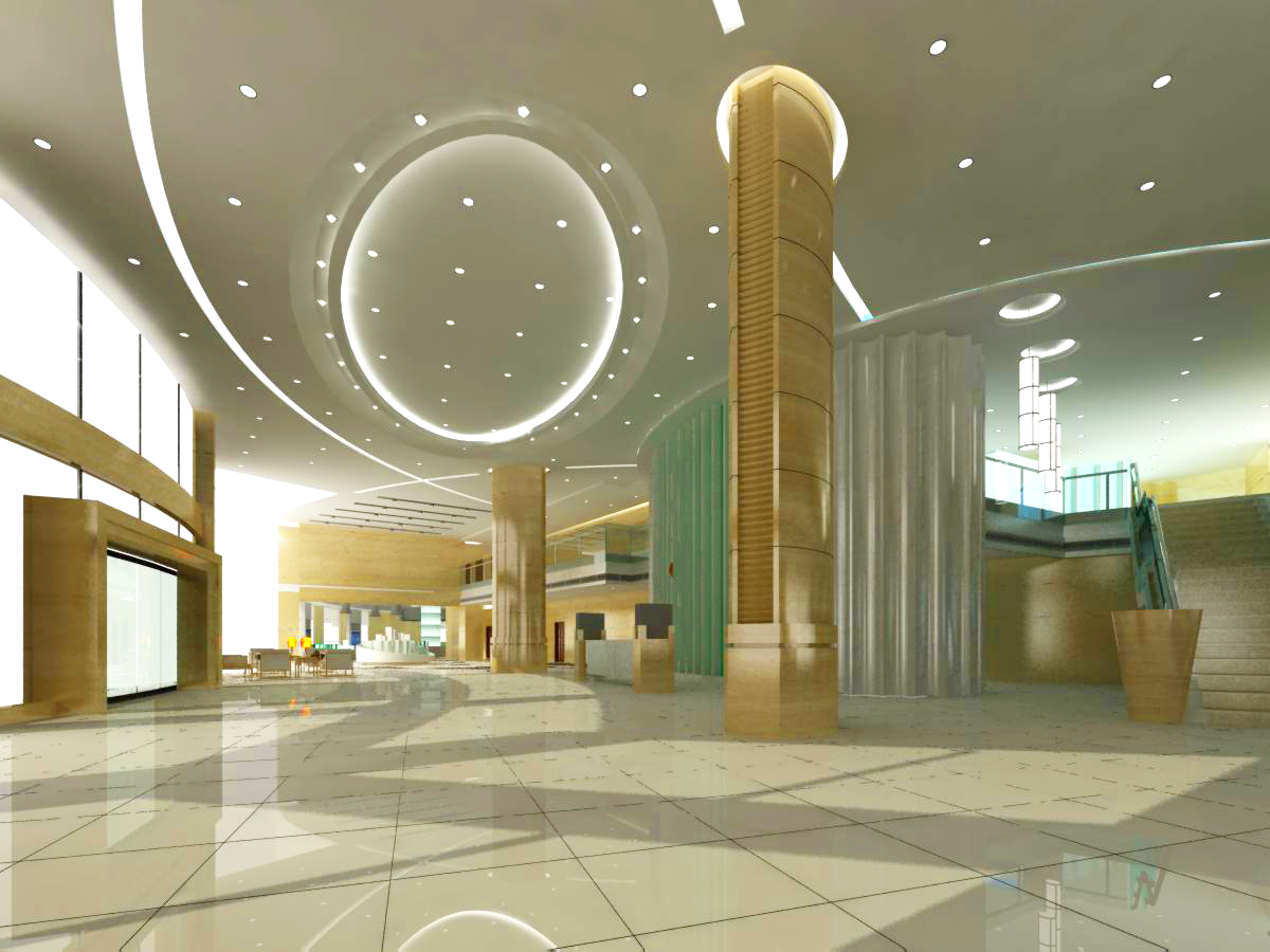lobby 035 two 3d model max 136797