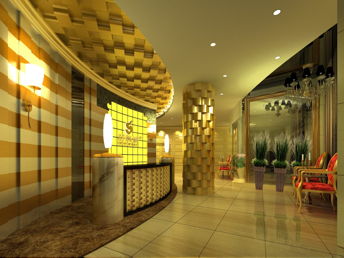 lobby 036 two 3d model max 136799
