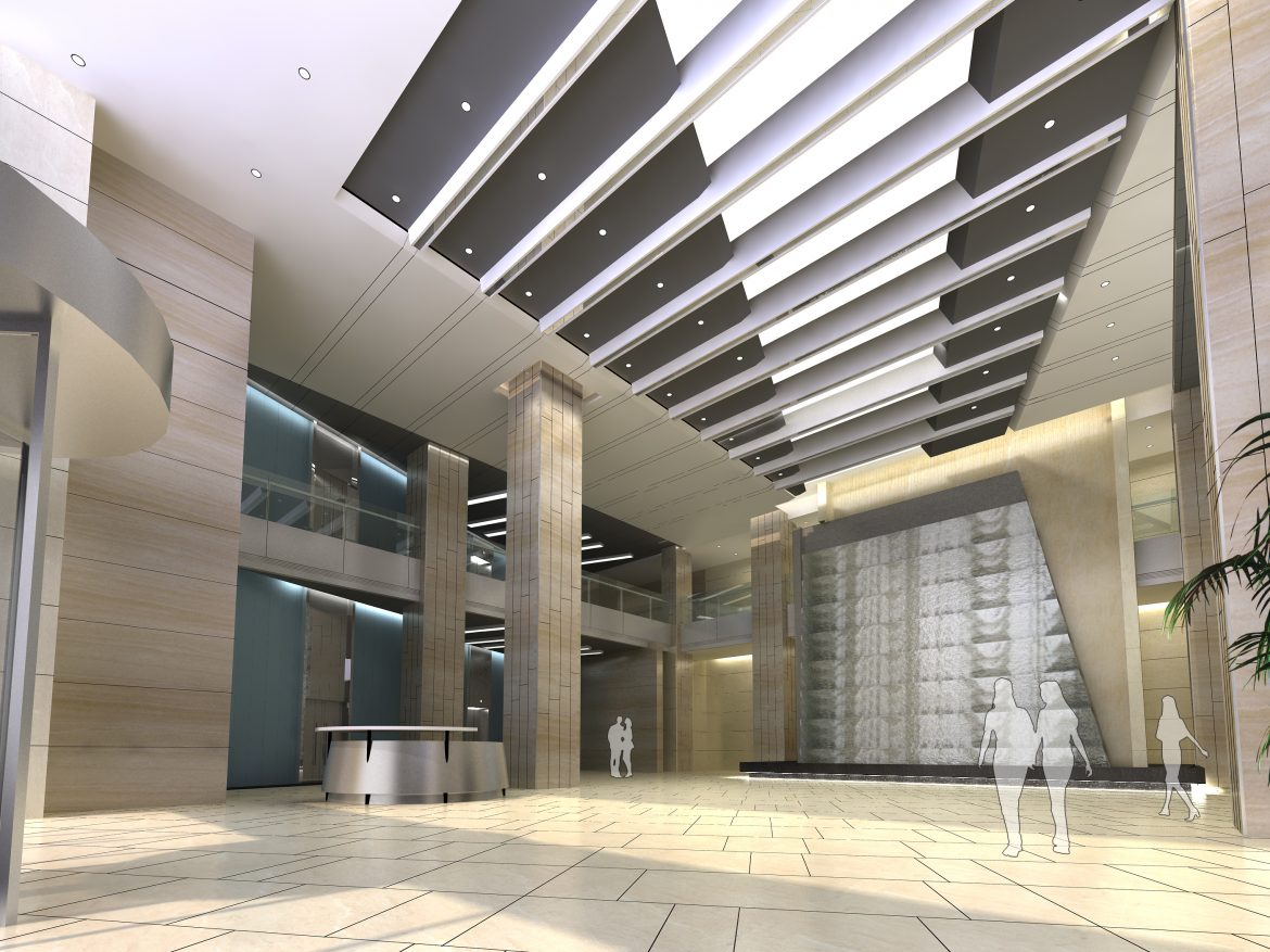 lobby 037 two 3d model max 136801