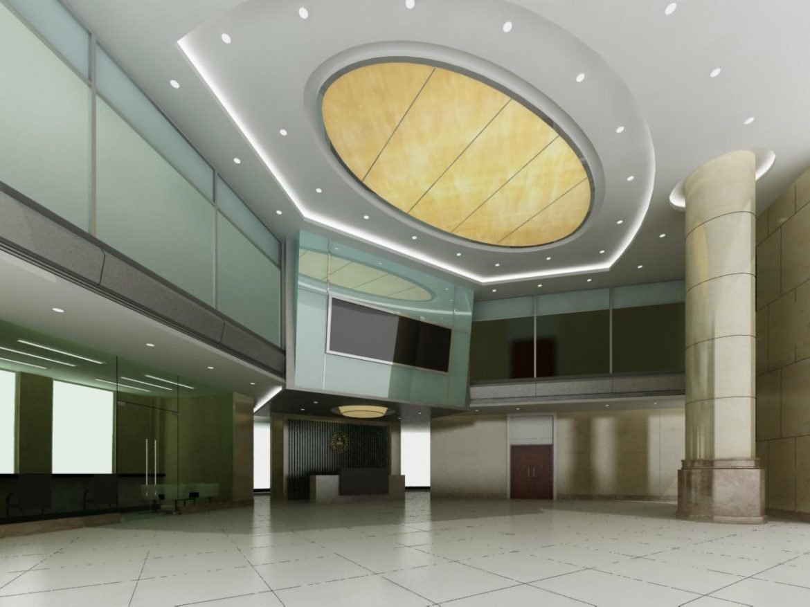 lobby 038 two 3d model max 136803