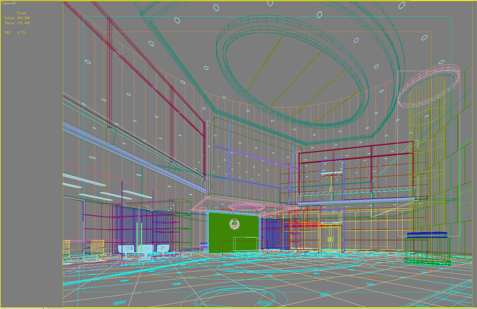 lobby 038 two 3d model max 136804