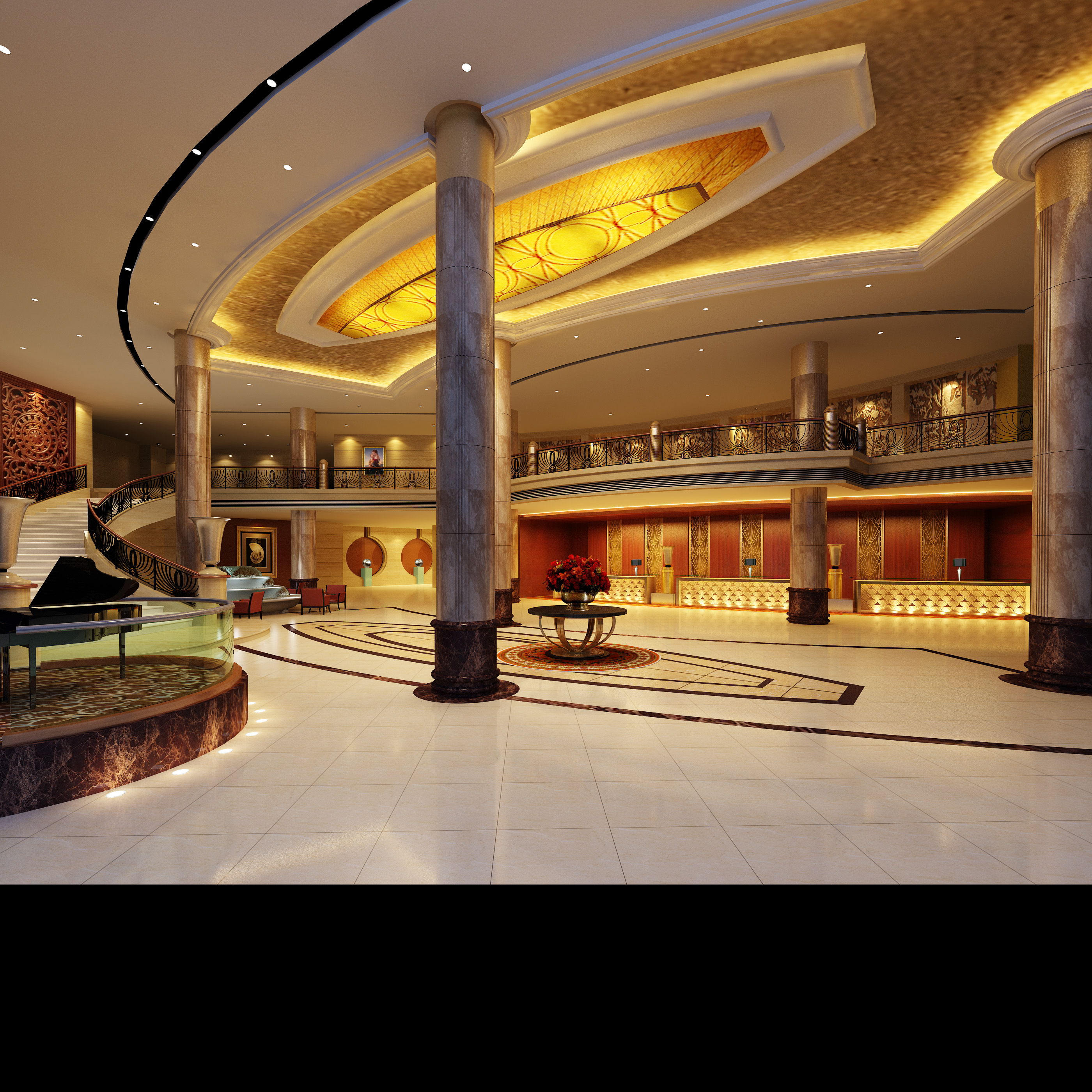 lobby 040 two 3d model max 136807
