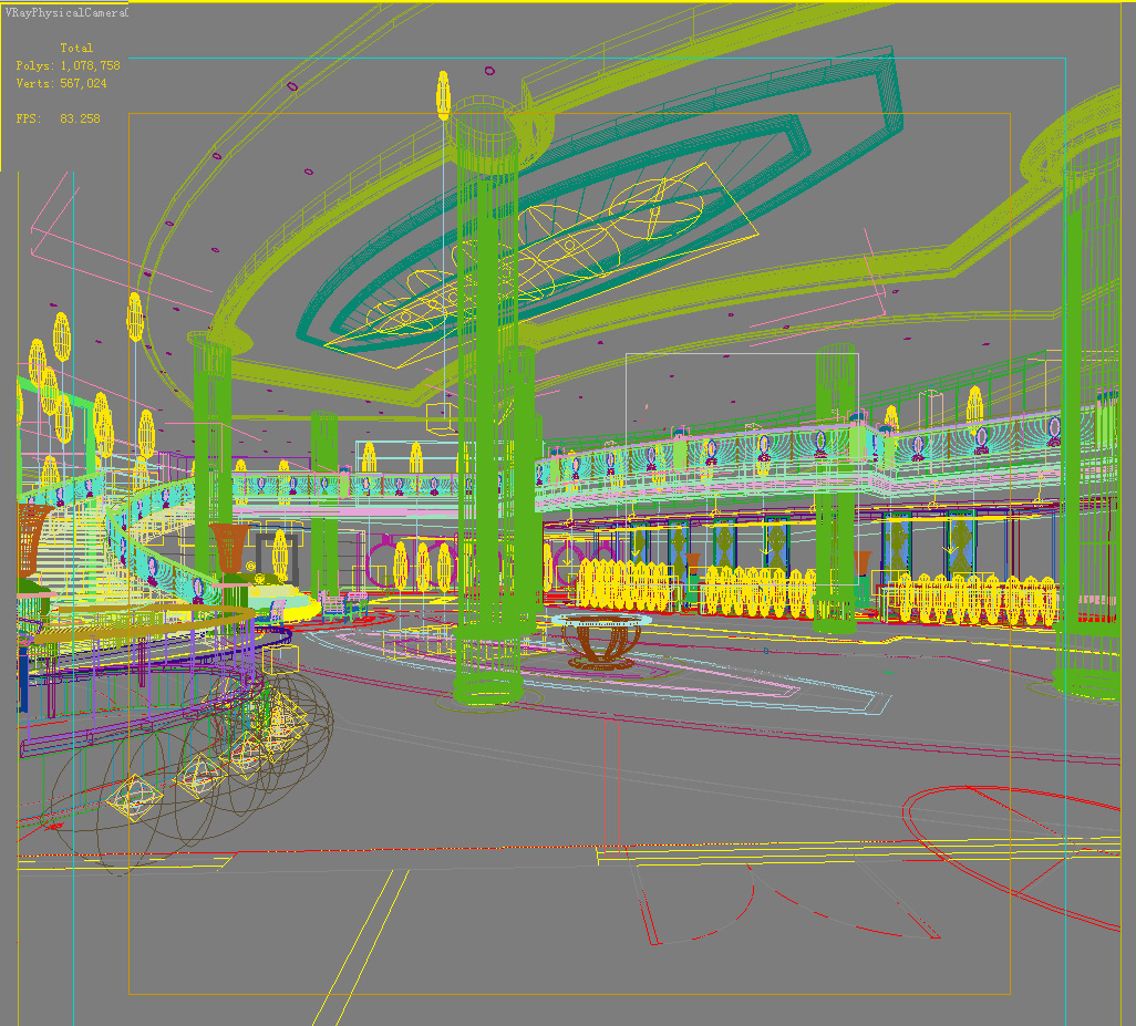 lobby 040 two 3d model max 136808