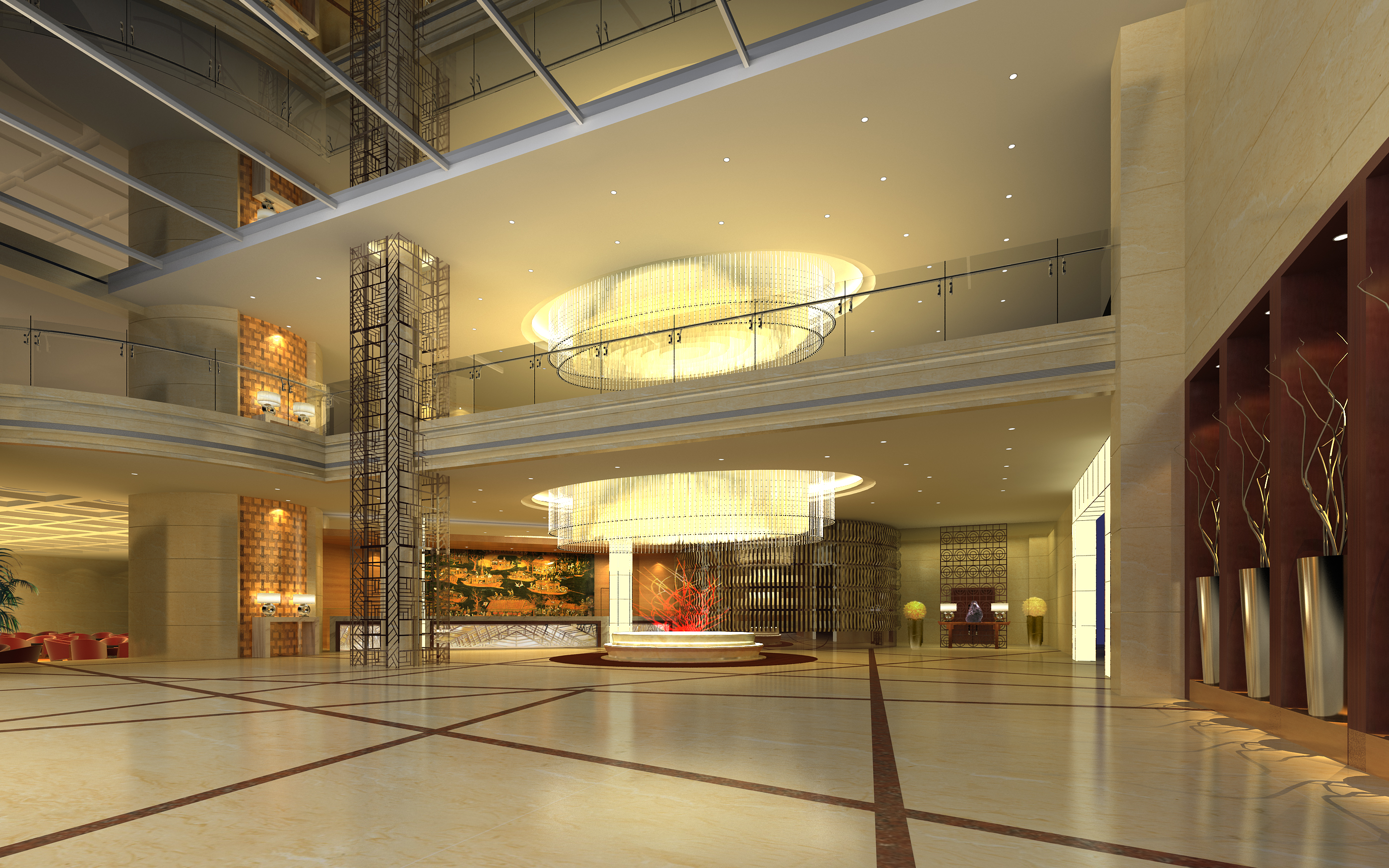 lobby 042 two 3d model max 136811