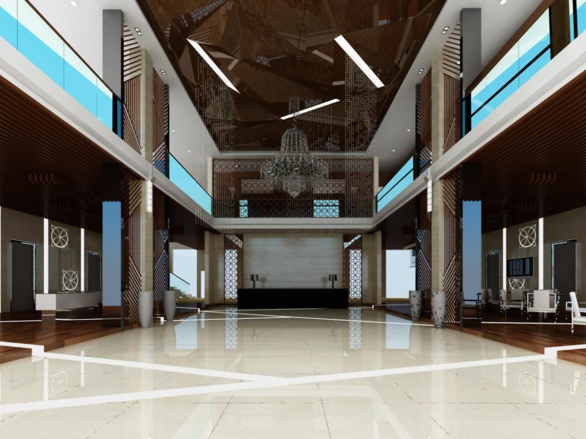 lobby 045 two 3d model max 136819