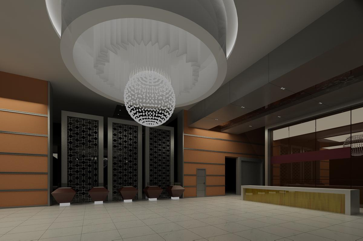 lobby 050 two 3d model max 136827