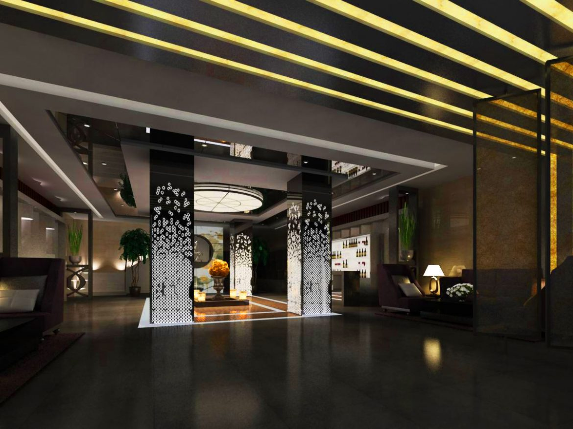 lobby 052 two 3d model max 136831