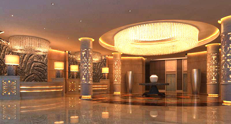 lobby 057 two 3d model max 136840