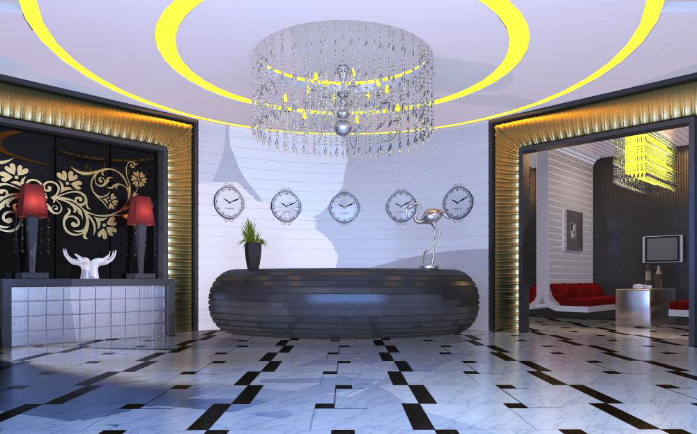 lobby 059 two 3d model max 136844