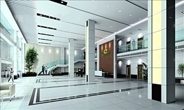 lobby 064 3d model 3ds max 90190