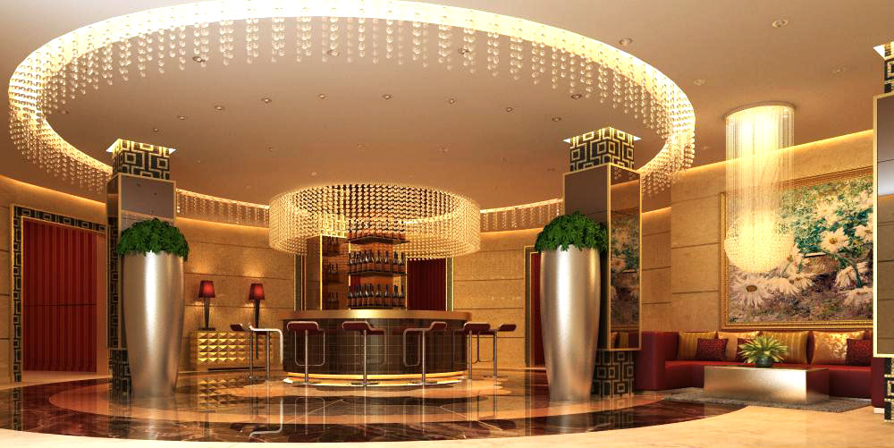 lobby 064 two 3d model max 136852