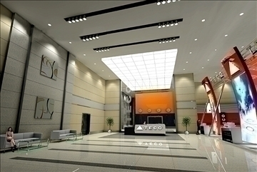 lobby 066 3d model 3ds max 90194