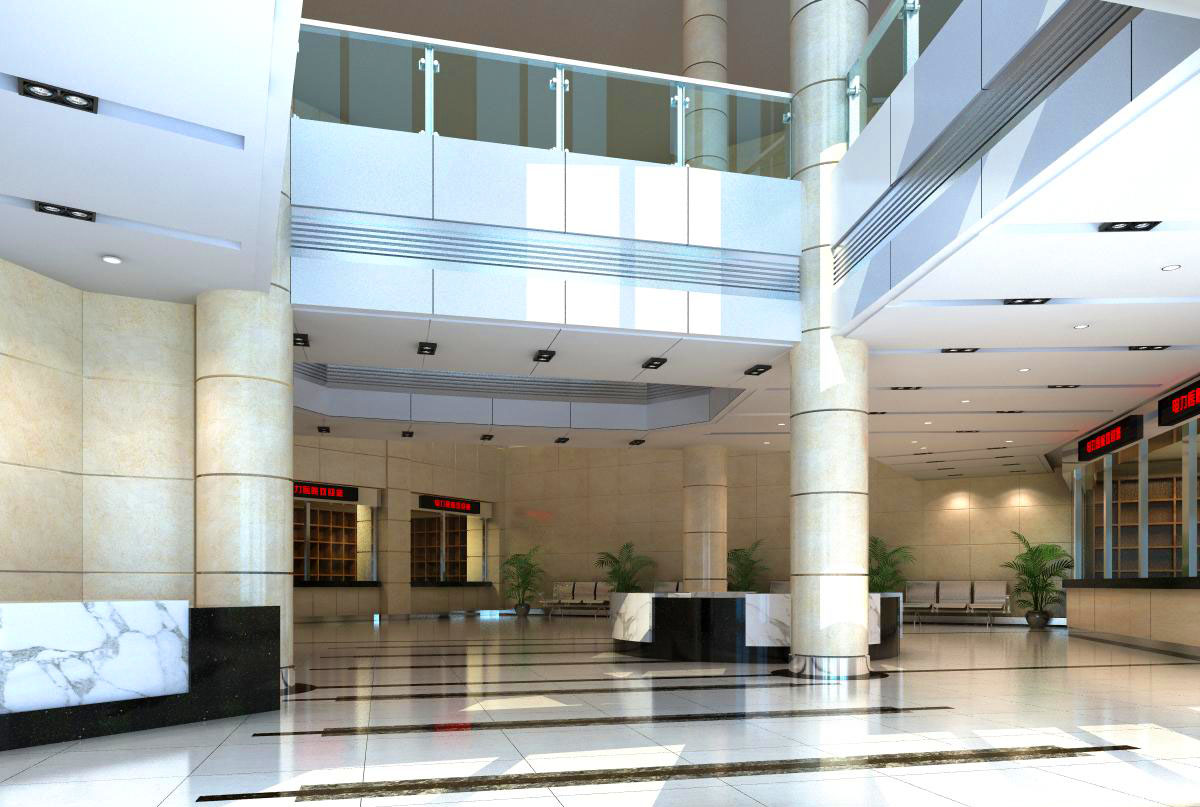 lobby 072 two 3d model max 136866