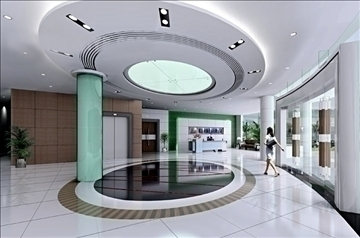 lobby 073 3d model 3ds max 90208