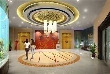 lobby 074 3d model 3ds max 90210