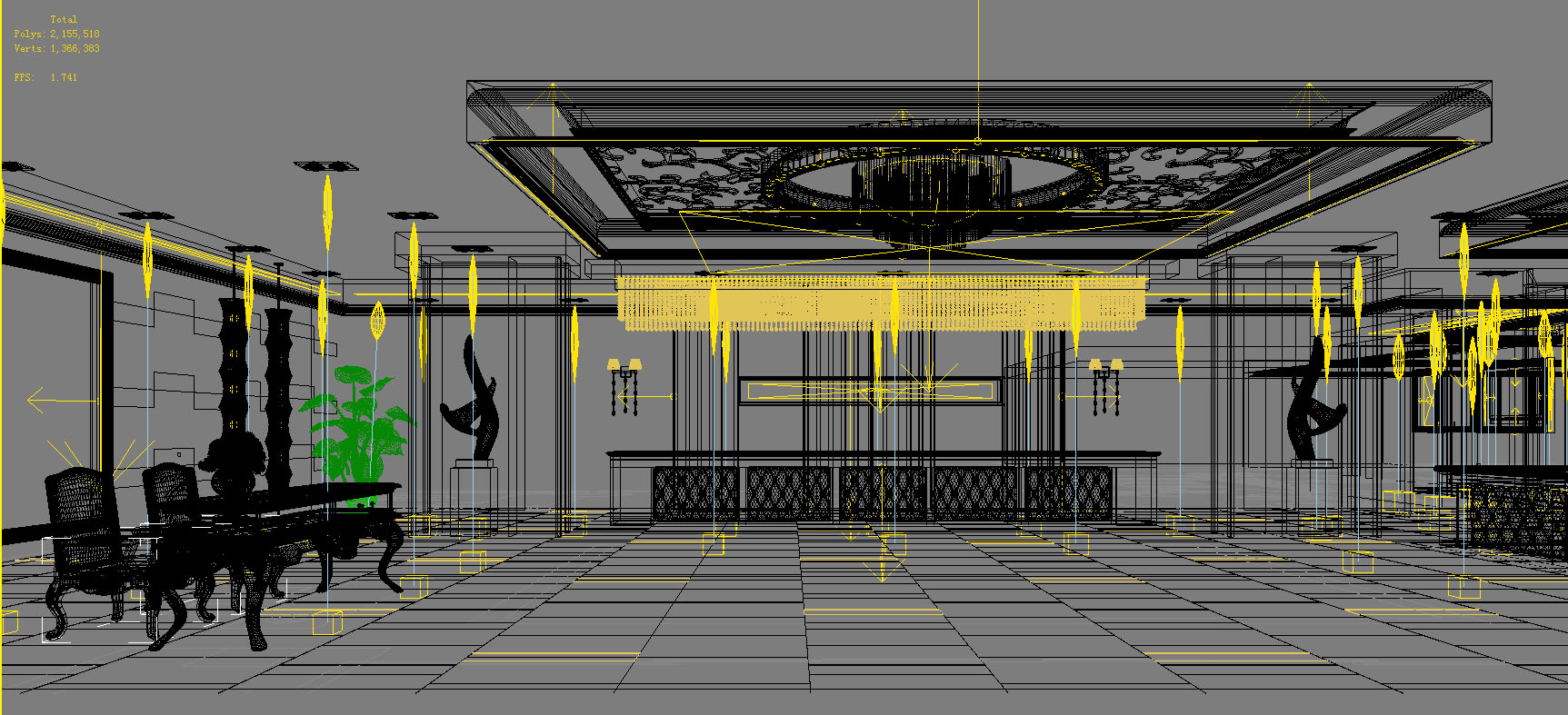 lobby 074 two 3d model max 136871