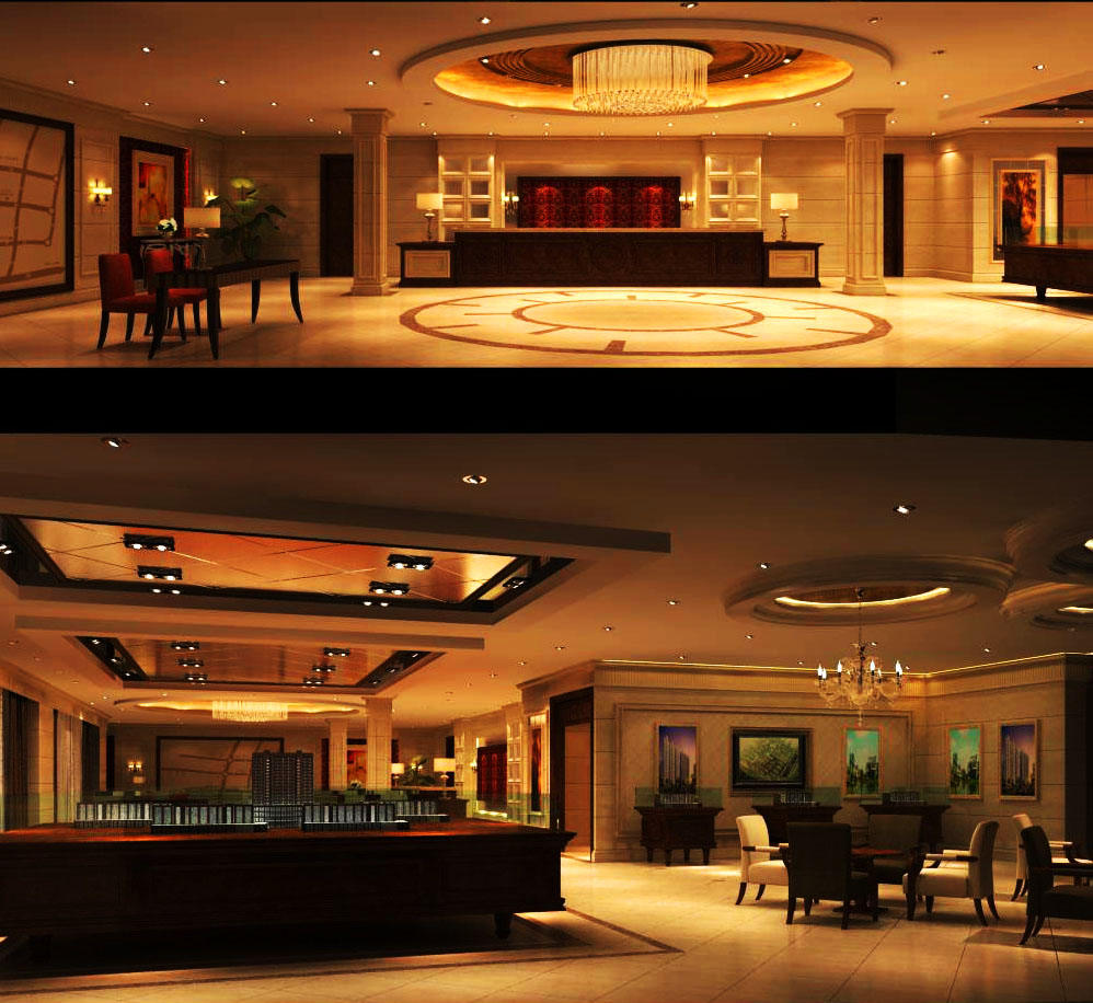 lobby 076 3d model max 136874