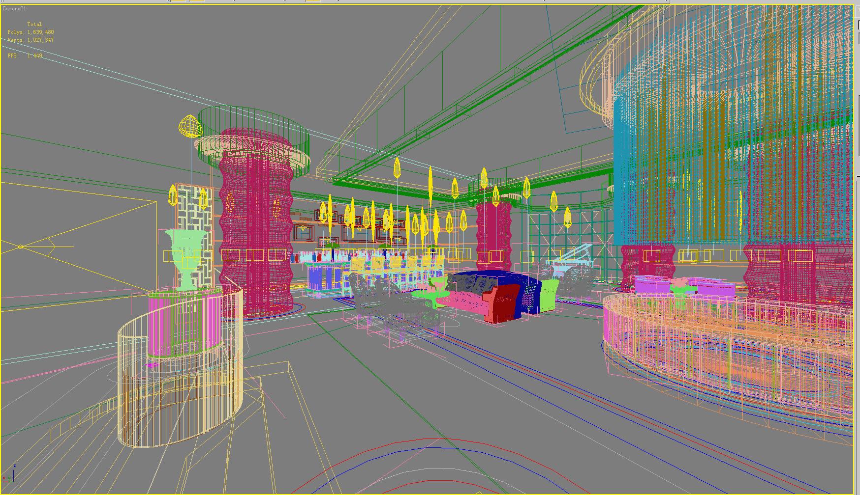 lobby 081 3d model max 136883