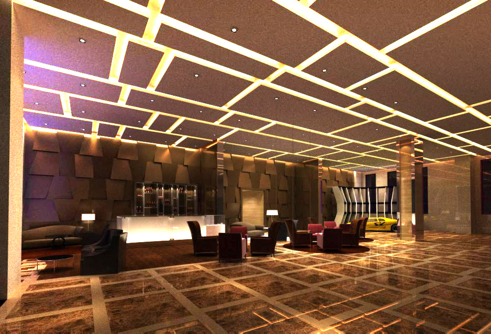 lobby 082 two 3d model max 136884
