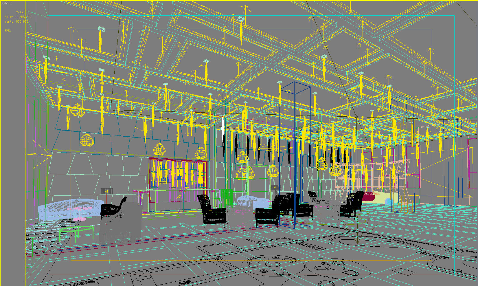 lobby 082 two 3d model max 136885