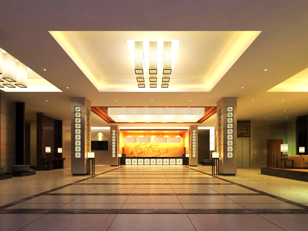 lobby 086 two 3d model max 143579