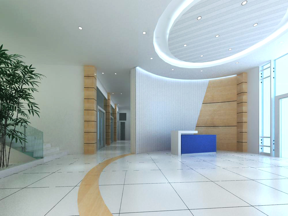 lobby 087 two 3d model max 143581