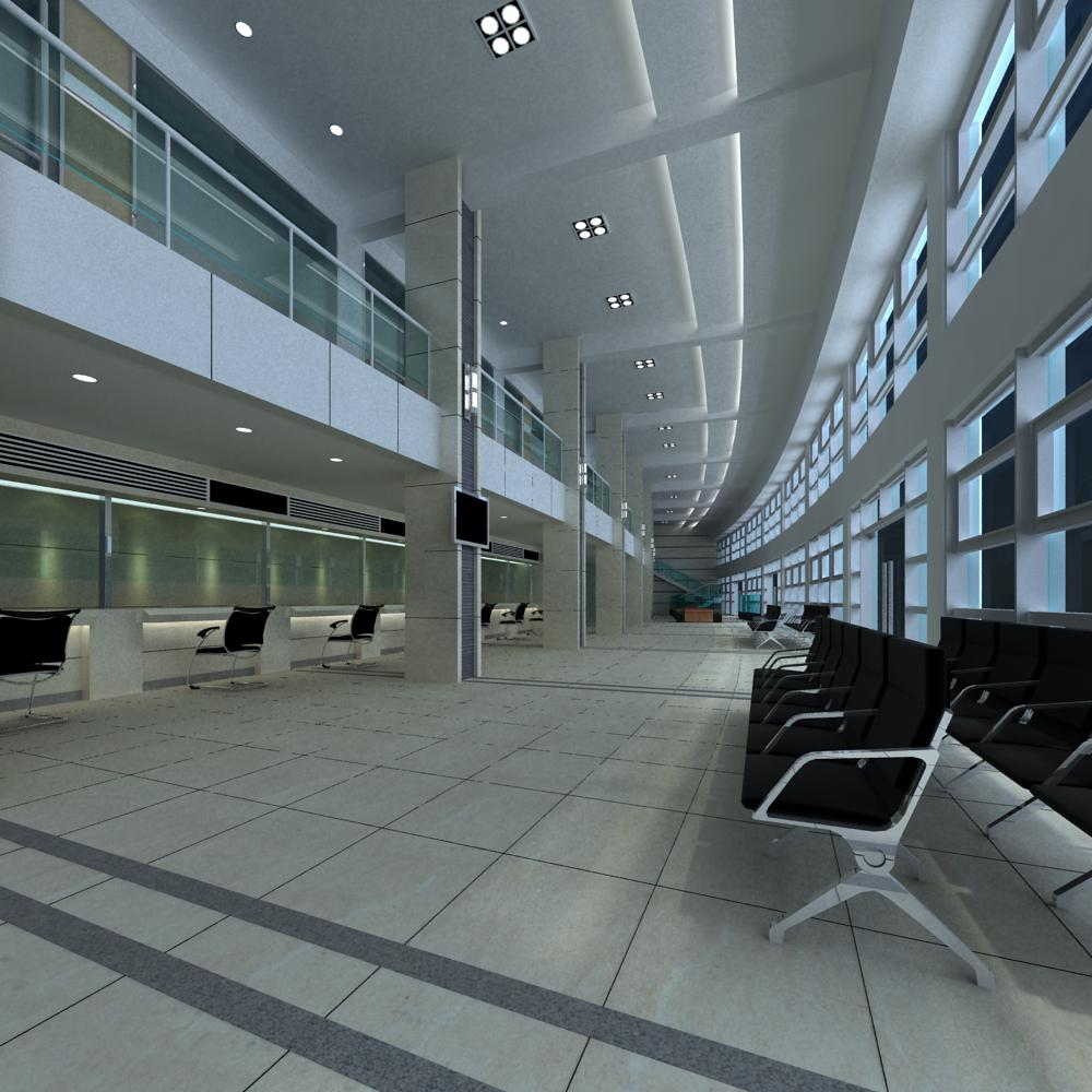 lobby 089 two 3d model max 143587