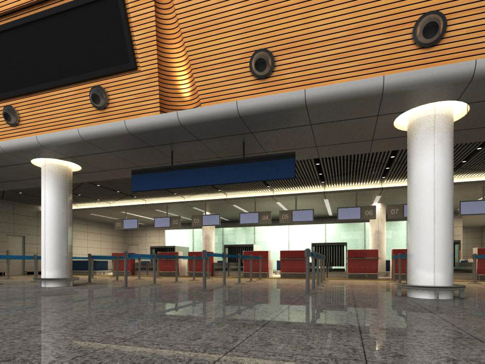 lobby 093 3d model max 136917