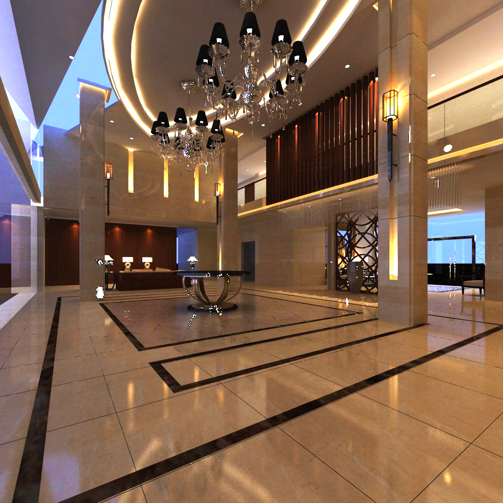lobby 099 two 3d model max 143605