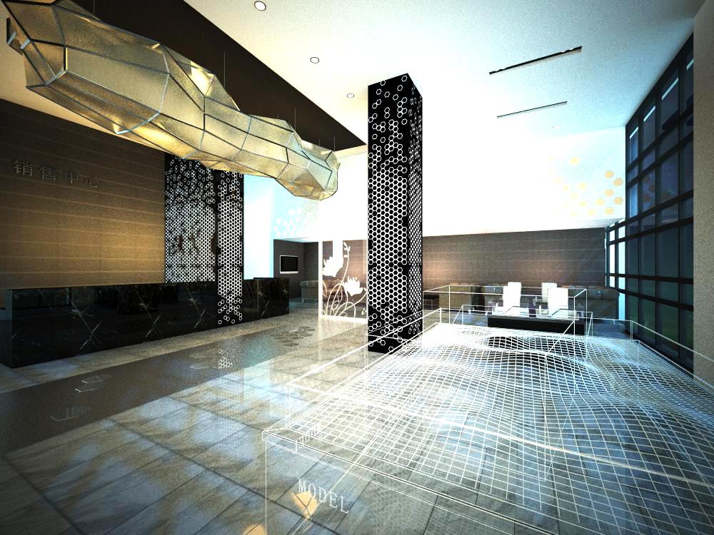 lobby 111-1 3d model max 136979