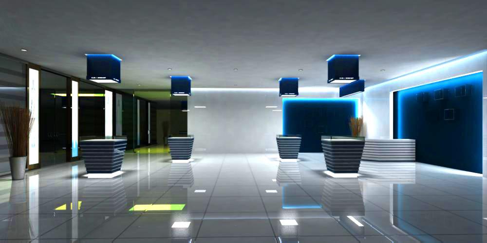 lobby 128 3d model max 137017