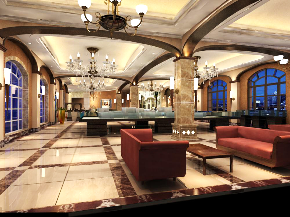 lobby 138 3d model max 137037