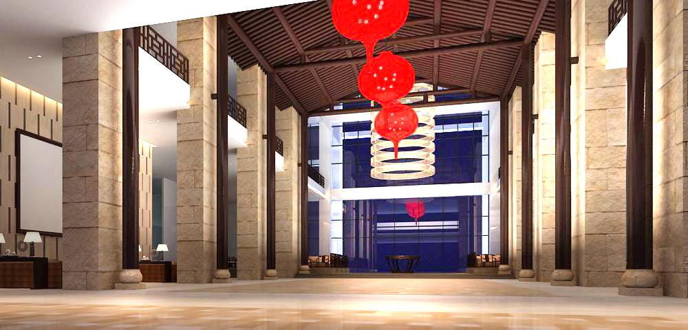 lobby 144 3d model max 137047