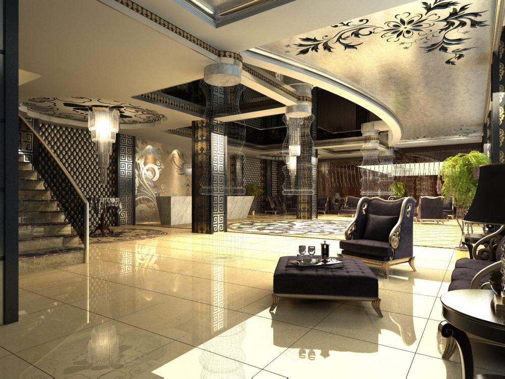 lobby 146 3d model max 137051